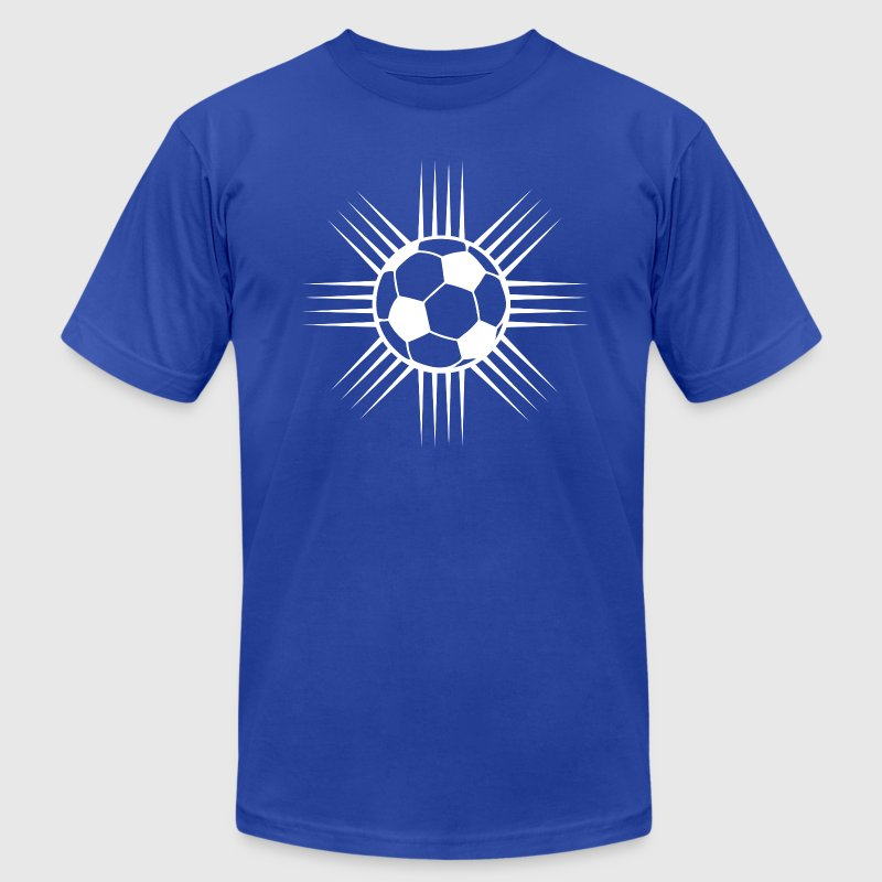 royal blue cool soccer ball designer logo t shirts mens t shirt by