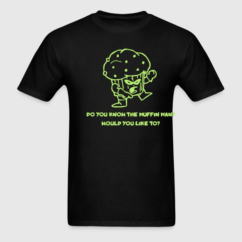 Black Muffin Man T-Shirts - Men's T-Shirt