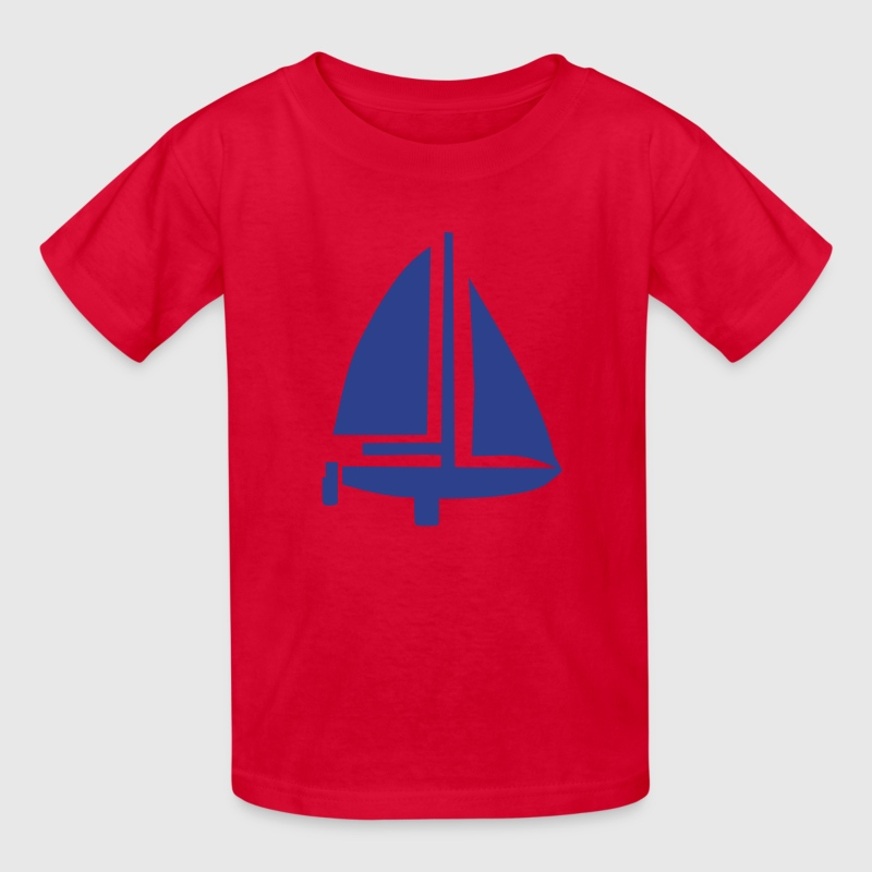 Red Sailing Boat Kids Shirts - Kids' T-Shirt