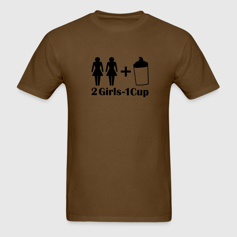 Brown 2 Girls 1 Cup T-Shirts - Men's T-Shirt