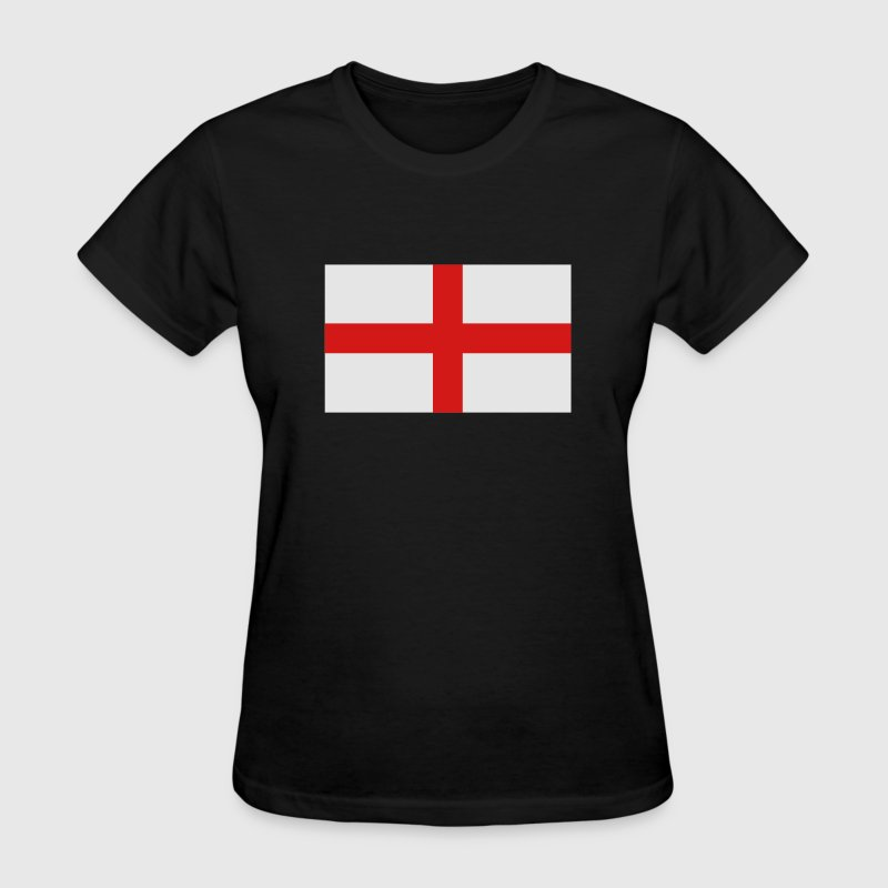Black English Flag Women's T-Shirts - Women's T-Shirt