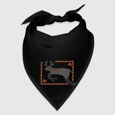 Black indian_deer_pattern Bags  - Bandana