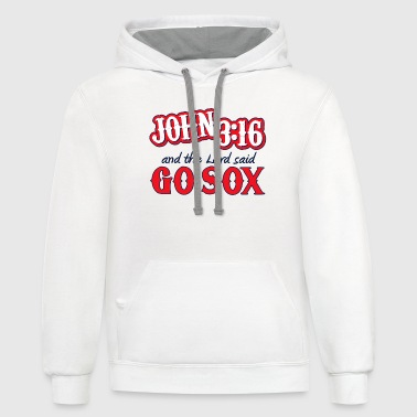 White Boston John 316 Red Sox  T-Shirts - Contrast Hoodie