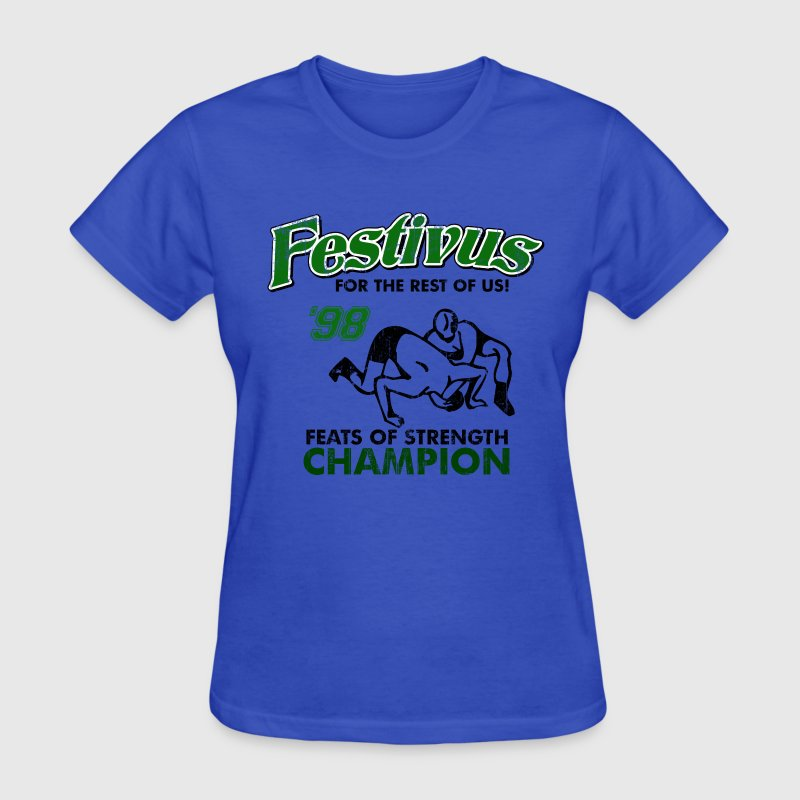 Light blue Seinfeld Festivus Costanza Women's T-Shirts - Women's T-Shirt
