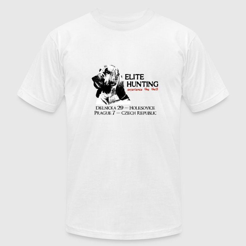 White Hostel Elite Hunting T-Shirts - Men's T-Shirt by American Apparel