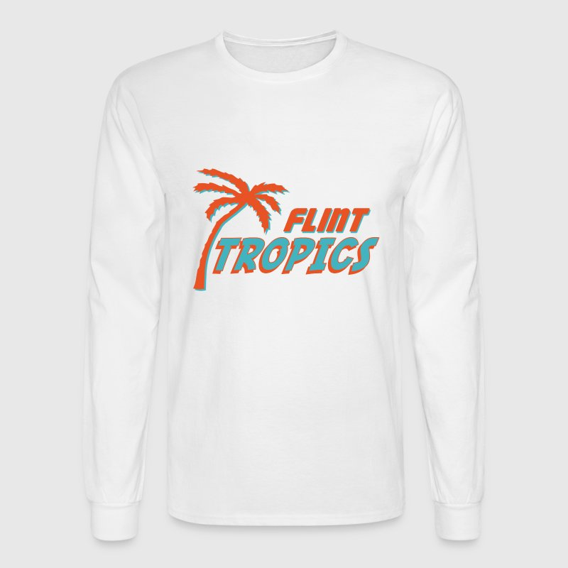 White Semi Pro Flint Tropics Long Sleeve Shirts - Men's Long Sleeve T-Shirt