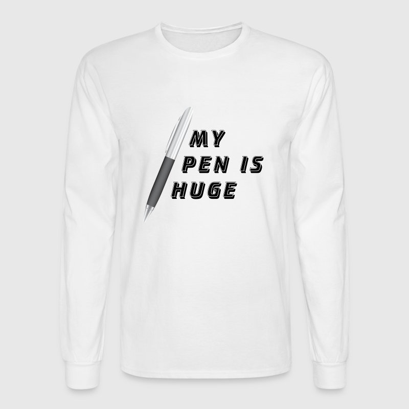 White My PenIs Huge Long Sleeve Shirts - Men's Long Sleeve T-Shirt