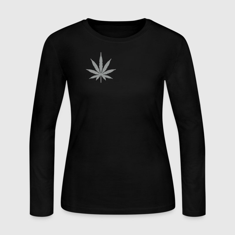Black Marijuana Long Sleeve Shirts - Women's Long Sleeve Jersey T-Shirt