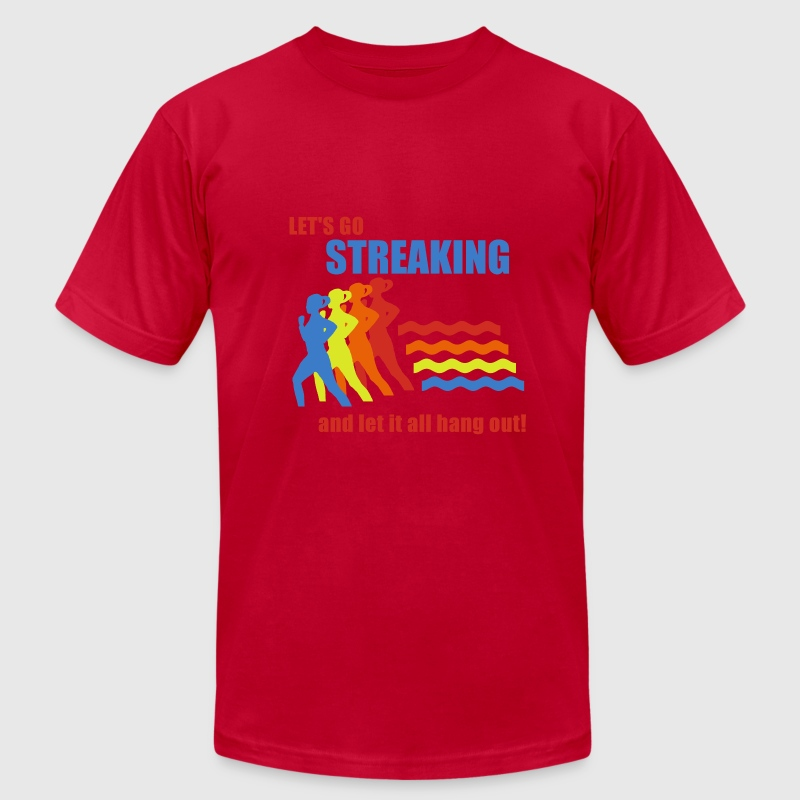 Light blue Old School Frank Streaking T-Shirts - Men's Fine Jersey T-Shirt