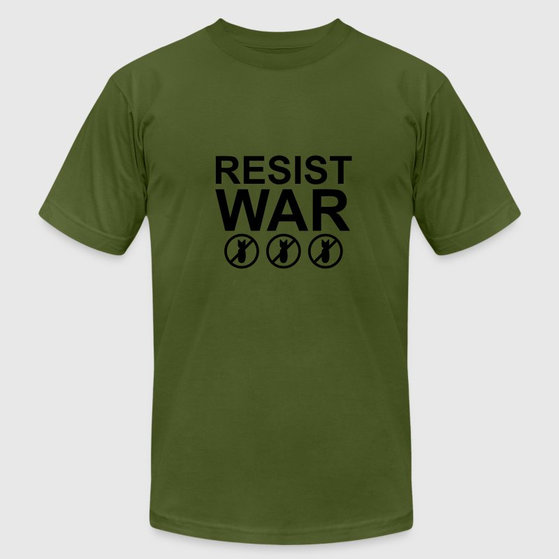 Olive RESIST WAR T-Shirts - Men's T-Shirt by American Apparel