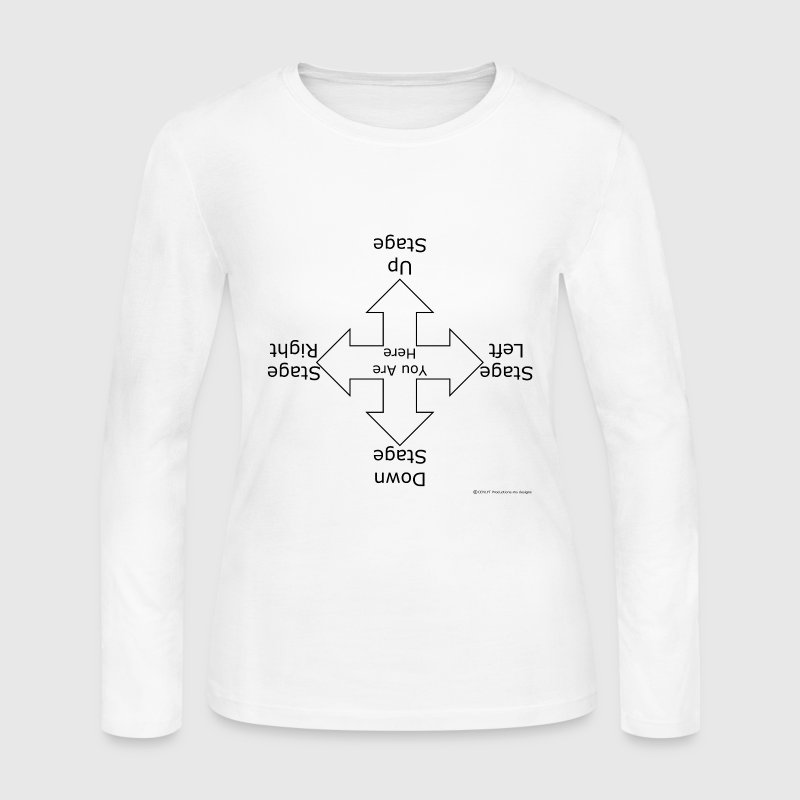 White Stage Directions (For Light T's) Long Sleeve Shirts - Women's Long Sleeve Jersey T-Shirt