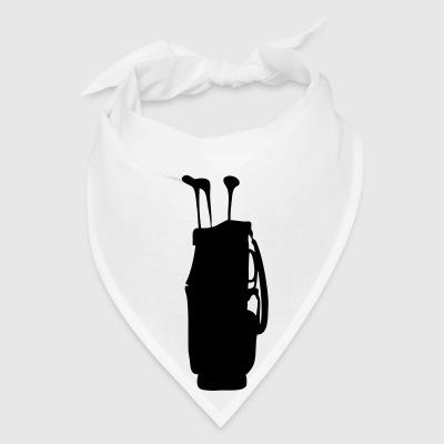 White golf bag Buttons - Bandana