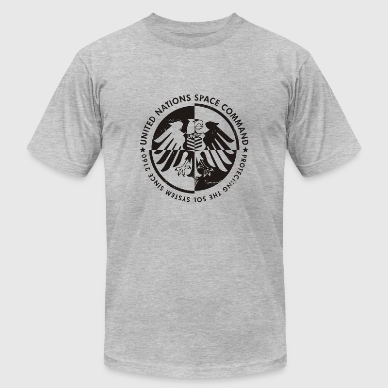 Heather grey UNSC Halo T-Shirts - Men's T-Shirt by American Apparel