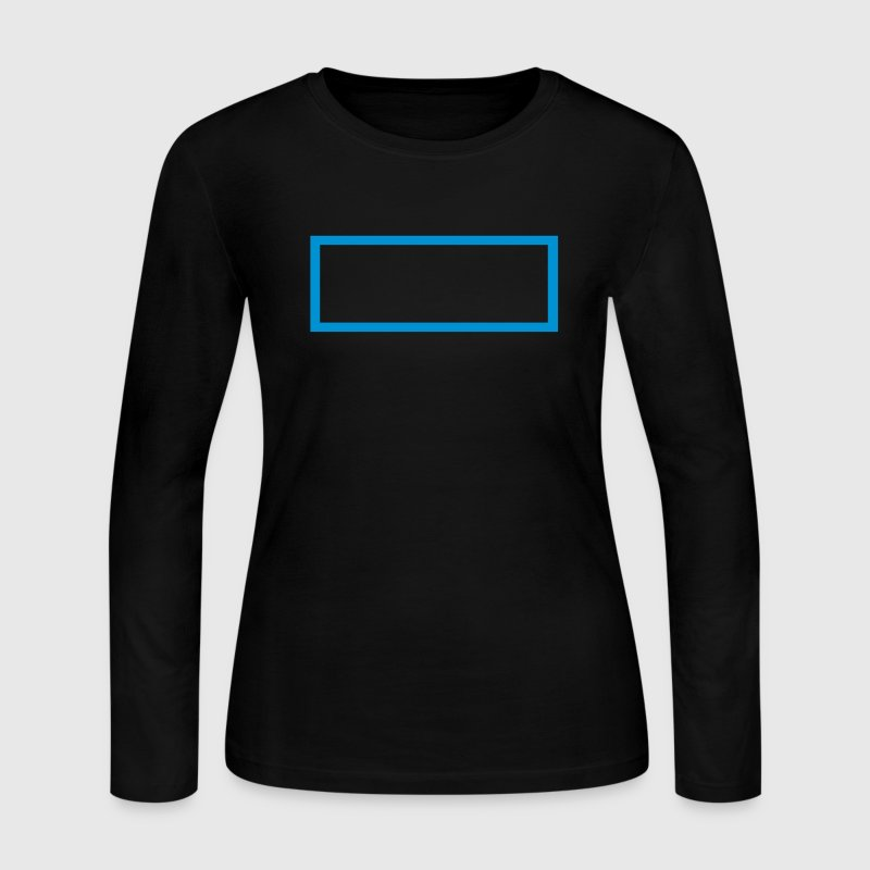 Black Rectangle Outline Long Sleeve Shirts - Women's Long Sleeve Jersey T-Shirt
