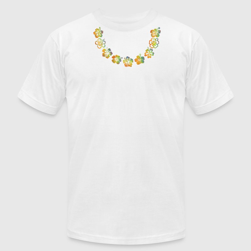 White Lei T-Shirts - Men's T-Shirt by American Apparel