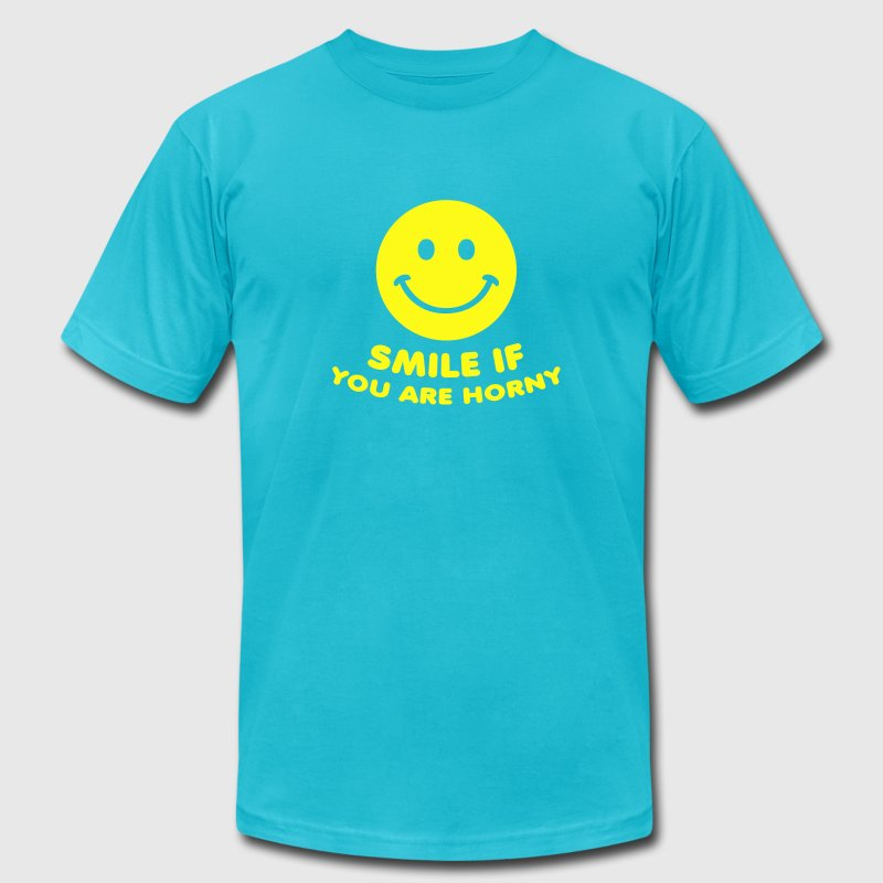 Gold smile if you are horny sex porn T-Shirts - Men's T-Shirt by American Apparel