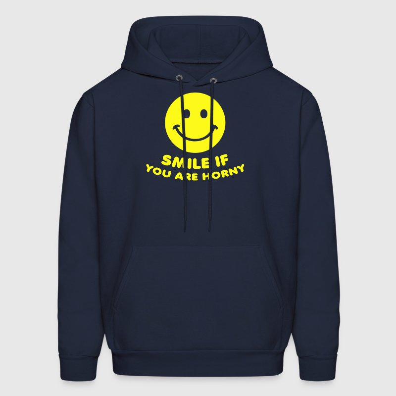 Navy smile if you are horny sex porn Hoodies - Men's Hoodie