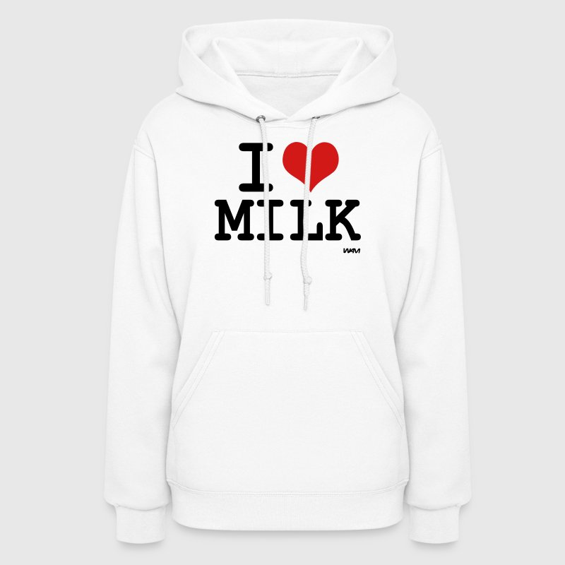 White i love milk by wam Hooded Sweatshirts - Women's Hoodie