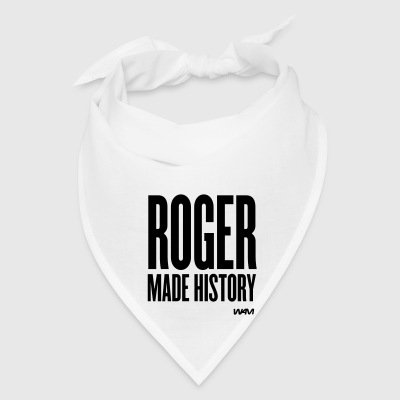 White ROGER made history Buttons - Bandana