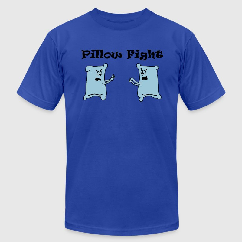 Royal blue Pillow Fight T-Shirts - Men's T-Shirt by American Apparel