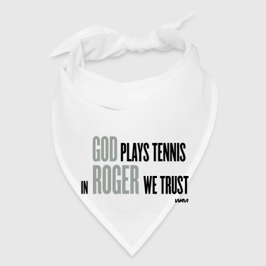 White GOD plays tennis Buttons - Bandana