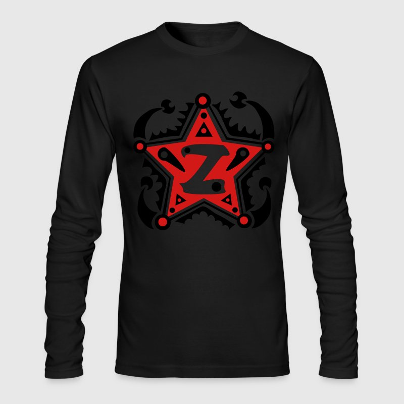 Letter  Z Design Name - Men's Long Sleeve T-Shirt by Next Level