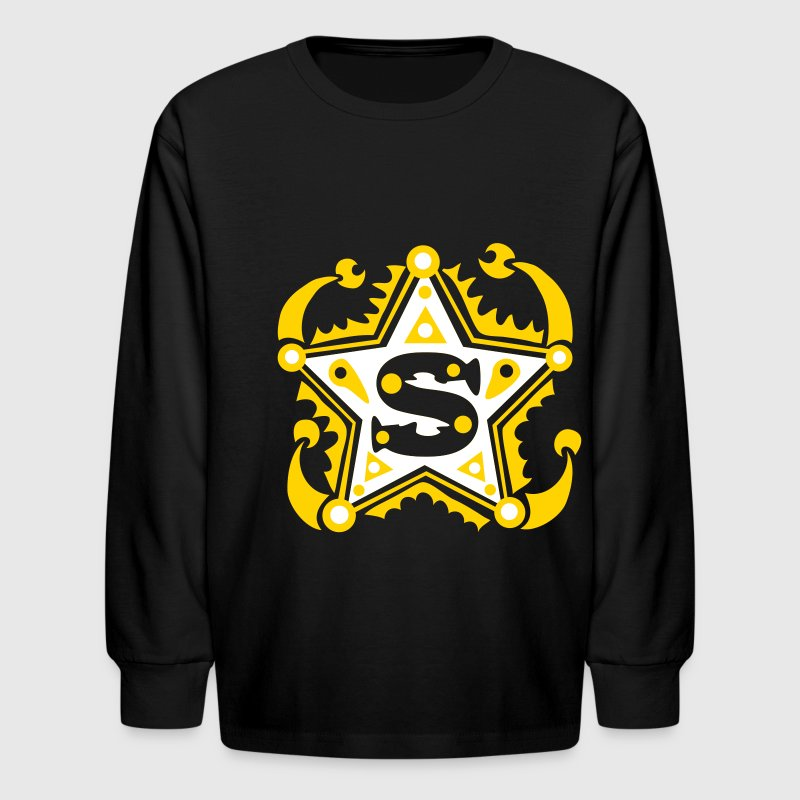 S Type Letter Name Initial - Kids' Long Sleeve T-Shirt