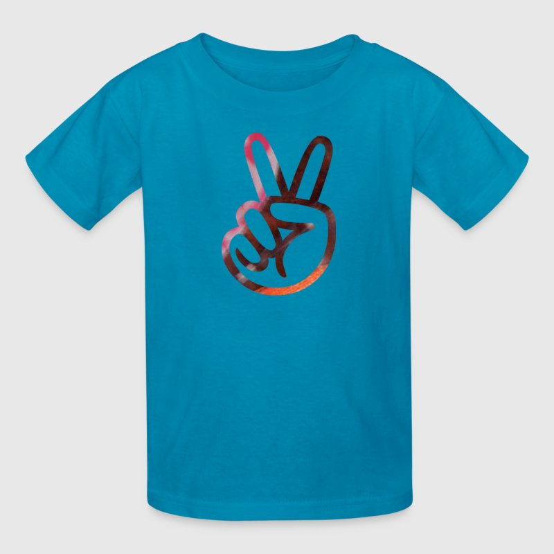Classic pink PEACE SIGN FINGERS Kids' Shirts - Kids' T-Shirt