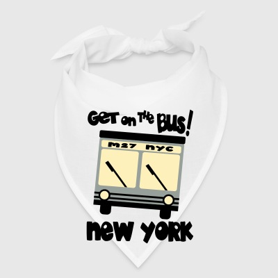 Creme Get On The Bus With M27, NYC Hybrid Bus Bags  - Bandana