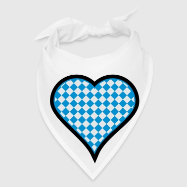 White Bavarian heart (3c) Buttons - Bandana