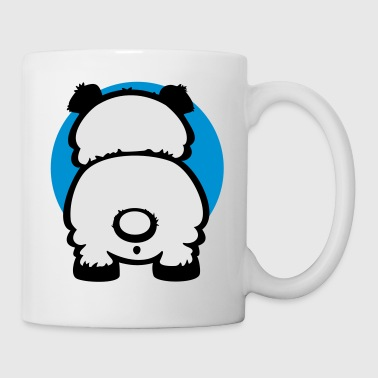 White sweet pandas backside (2c) Buttons - Coffee/Tea Mug