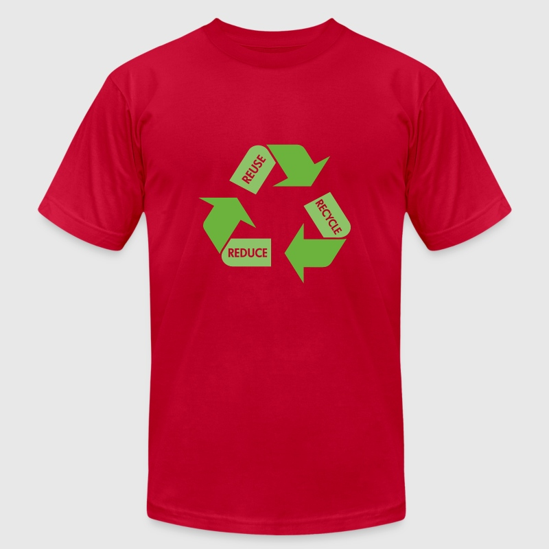 Brown Recycle Reuse Reduce T-Shirts - Men's T-Shirt by American Apparel
