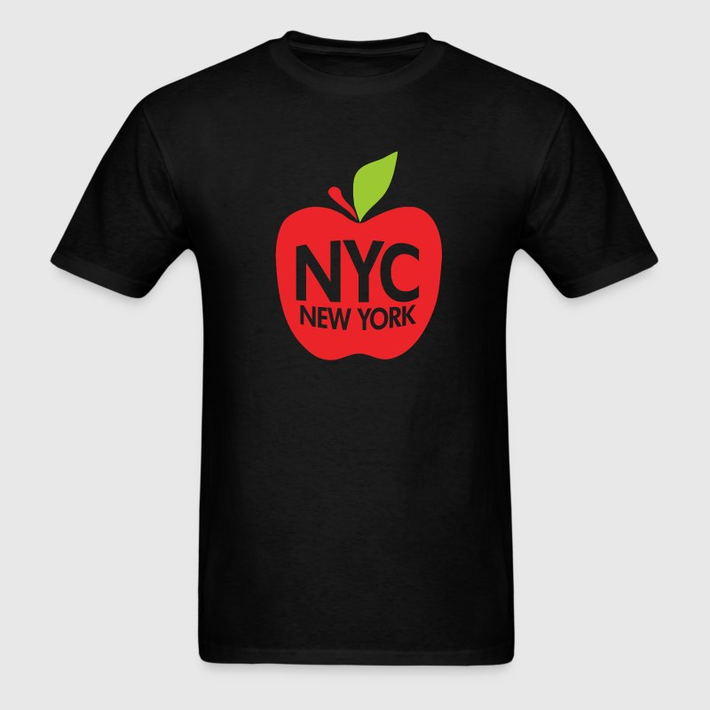 Black Green Big Apple NYC T-Shirts - Men's T-Shirt