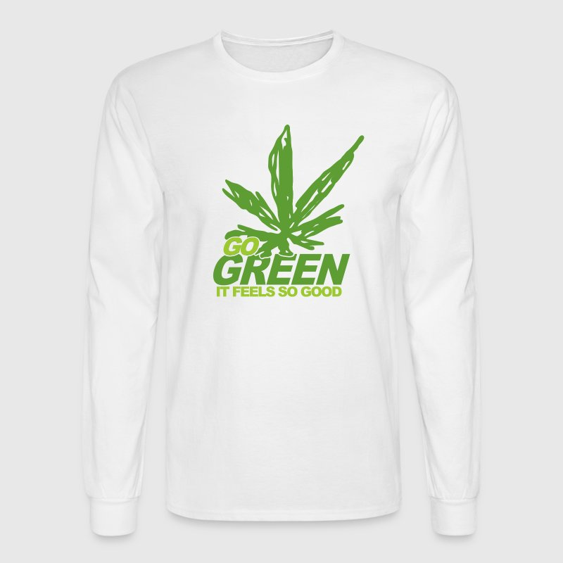 White THC Weed Go Green Long Sleeve Shirts - Men's Long Sleeve T-Shirt