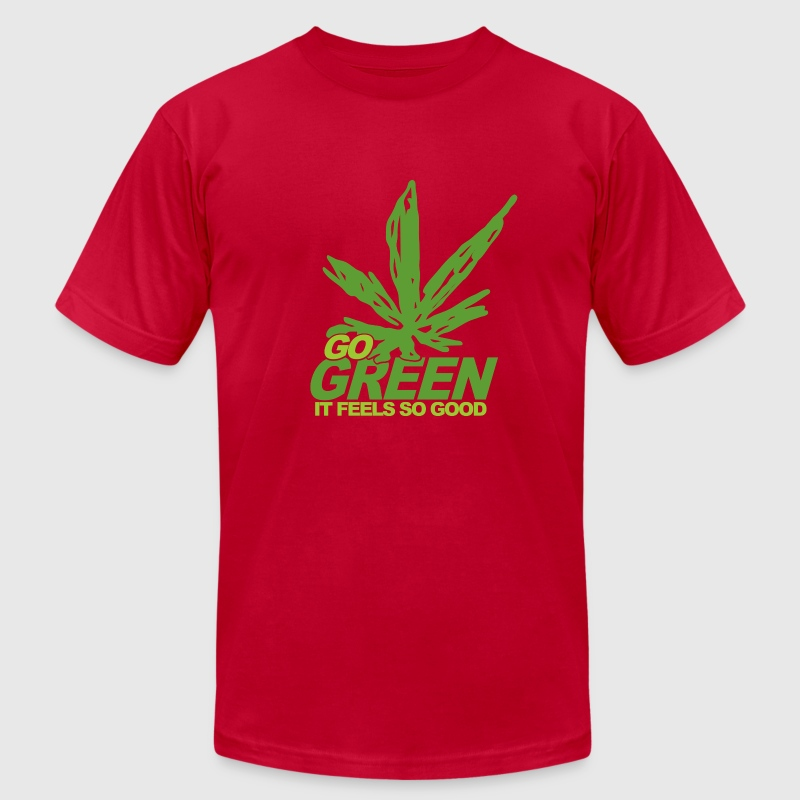 Brown THC Weed Go Green T-Shirts - Men's Fine Jersey T-Shirt