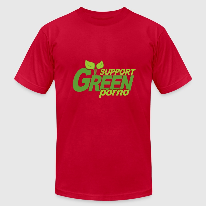 Brown Support Green Porno T-Shirts - Men's T-Shirt by American Apparel
