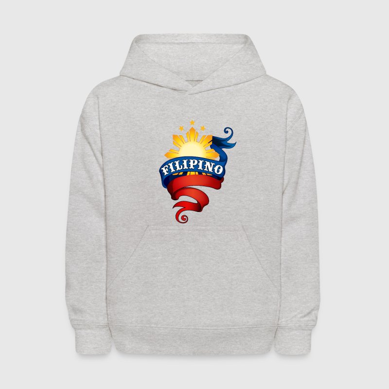 Heather grey Filipino Logo Sweatshirts - Kids' Hoodie