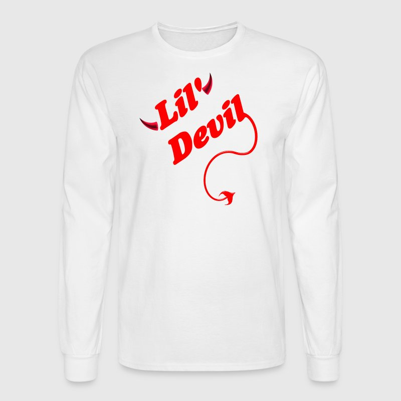 White Lil' Devil Long Sleeve Shirts - Men's Long Sleeve T-Shirt