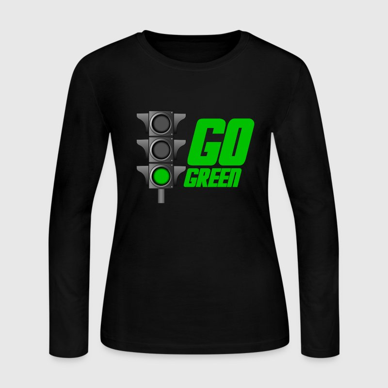 Chocolate Go Green Light Long Sleeve Shirts - Women's Long Sleeve Jersey T-Shirt