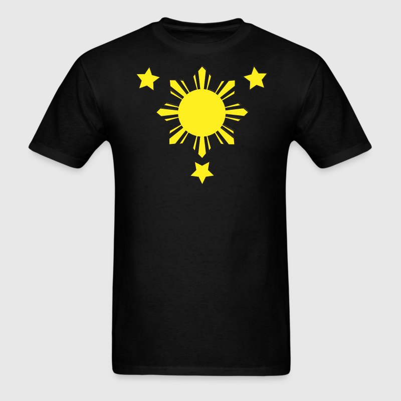Black 3 Stars and a Sun T-Shirts - Men's T-Shirt