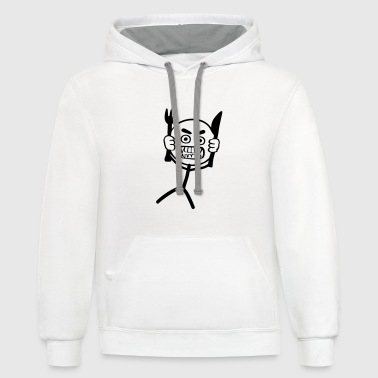 Hangry Stickman - Contrast Hoodie