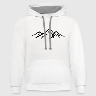 Rocky Mountains Mountain, Mountains - Contrast Hoodie