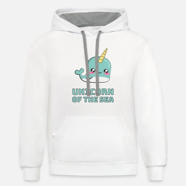 Narwhal Unicorn of the Sea - Contrast Hoodie