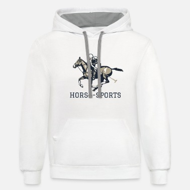 Equestrian Sports Horse Equestrian Saddle Rider Sport Gift - Contrast Hoodie
