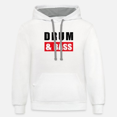Bass Drum and Bass - Contrast Hoodie
