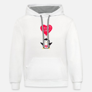 i believe i can fly - penguin - Contrast Hoodie