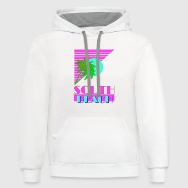 South Beach South Beach 80s - Contrast Hoodie