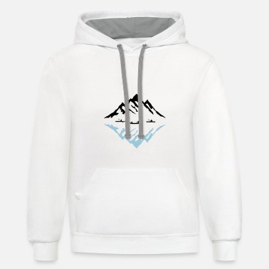 Canoe Canoe & Mountains, Reflection - Contrast Hoodie