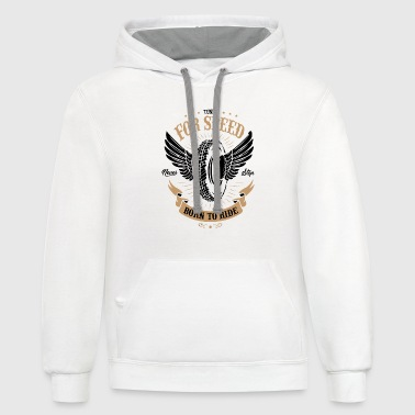 Premium motor race for speed - Contrast Hoodie