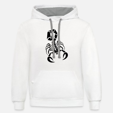 Stinger Funny Scorpion - Tail Stinger - Arachnid - Contrast Hoodie